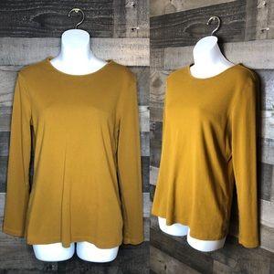 Pendleton Mustard Yellow Long Sleeve Cotton Top